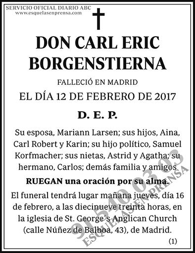 Carl Eric Borgenstierna